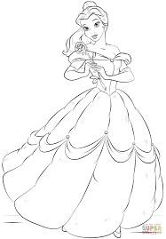 belle coloring page free printable coloring pages