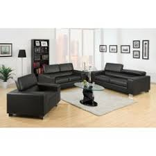 Black Leather Living Room Sets by Remarkable Modern Bonded Leather Sectional Sofa In Black With L