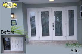 Frosted Glass Exterior Doors Etched Glass Tropical Designs On Front Entry Doors