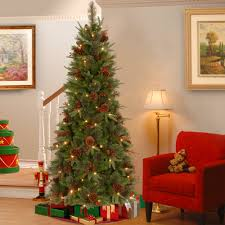 artificial christmas trees slim perfect great ft pre lit