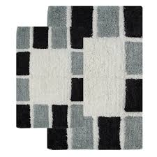 Black And White Bathroom Rug by Bath Mats And Rugs