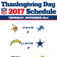 thanksgiving day nfl schedule 2017 divascuisine