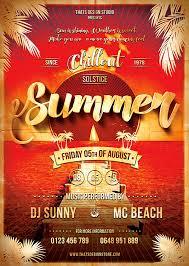 summer flyer design summer flyer templates beach flyer design free