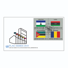 Picture Of Un Flag 2018 Flag Series U2013 Fdc Combo Sheet 54 Un Stamps
