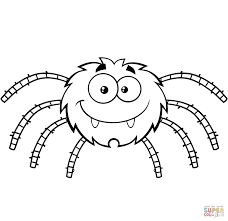 funny cartoon spider coloring page free printable coloring pages