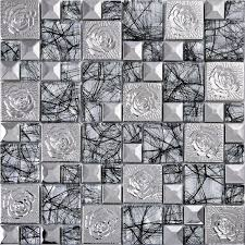 metal wall tiles kitchen backsplash silver 304 stainless steel mosaic tile glass mirror wall