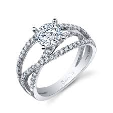 wedding rings cross images Criss cross split shank engagement ring sylvie collectionalexis jpg