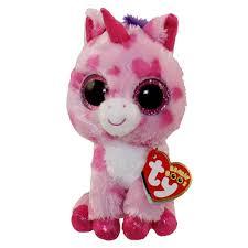 ty beanie boos sugar pie pink unicorn glitter eyes
