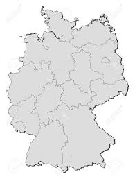 Map Og Germany by Political Map Of Germany With The Several States Royalty Free