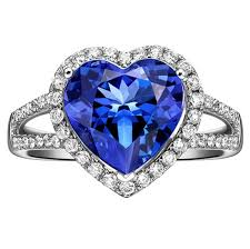 blue and white engagement rings 1 50 carat cut blue sapphire and halo engagement
