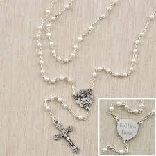 communion presents personalized communion rosary for pearl