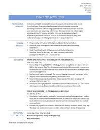 front end developer resume front end developer resume paso evolist co