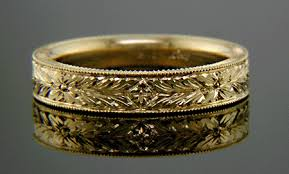 hand engraved rings images Hand engraved wedding bands bijoux extraordinaire gif