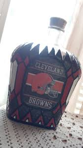Cleveland Browns Home Decor by Cleveland Browns Football Crown Royal Hand Painted Glass