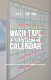 transformed a dry erase board erase board board and washi tape
