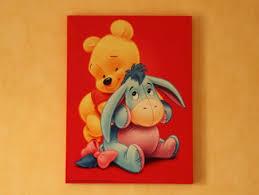 tableau pour chambre d enfant déco murale winnie l ourson pour chambre d enfant la déco à lilo