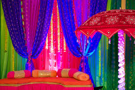 bold color wedding festivities with bold color palette for nyc indian wedding
