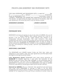 corporate loan contract sample private loan agreement template