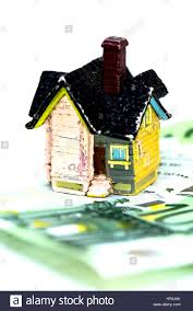 Euro House House And Euro Money Concept Buy Or Rent Stock Photo Royalty