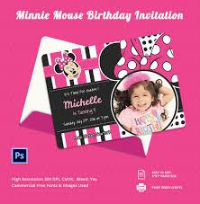 Birthday Invitation Card Free Minnie Mouse Birthday Invitation Template U2013 12 Free Psd Ai