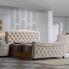 Velvet Sleigh Bed with Meridian Furniture Diamond Sleigh Q Diamond Queen Sleigh Bed W