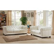 White Tufted Loveseat Amax Leather Monacosl Monaco 100 Leather Sofa U0026 Loveseat In