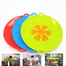 ustensile de cuisine en silicone anti ébullition sur silicone couvercle gadgets de cuisine en