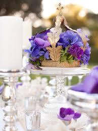 Royal Crown Centerpieces by Unique Centerpieces Royal Purple Flowers Spilling Out Of An