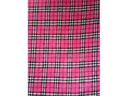 pink tartan polar fleece anti pill washable soft fabric cerise pink tartan pf