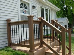 home design for front exterior wooden porch railing designs and steel railing designs