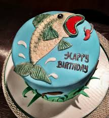 bass fish cake bass fishing birthday cake creation sweet cakes