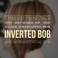 the difference between an a line graduated bob inverted