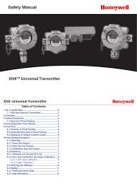 xnx uni transmitter safety manual calibration technology