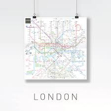 London Metro Map by Inat Metro Mapping Standard Jug Cerovic Architect