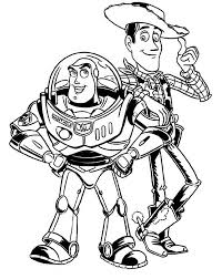 coloring lovely buzz coloring pages lightyear woody