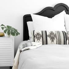 oversized pillows for bed black and white geometric pillow lumbar pillows the citizenry