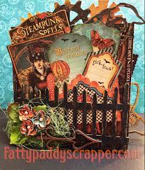 5x5 Album G45 Steampunk Spells 5x5 Accordian Paper Bag Mini Album Ccc Dt