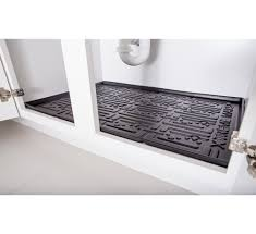 Kitchen Cabinet Lining Kitchen Under Sink Cabinet Mats Black Or Beige Xtreme Mats