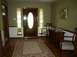 for dining room stained chair rail tan color walls
