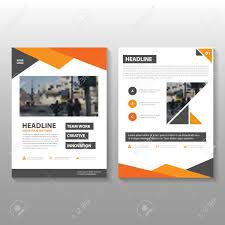 cover layout com orange vector annual report leaflet brochure flyer template design