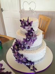 12 x mixed purple stick on butterflies wedding cake toppers