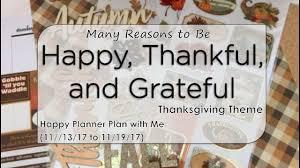 happy thankful grateful thanksgiving theme happy planner
