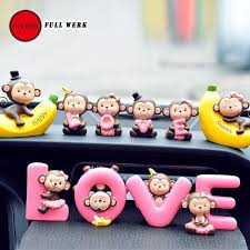 1 set car home office monkeys dashboard decoration
