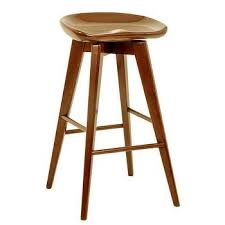 Wooden Swivel Bar Stool Brown Wooden Swivel Bar Stool