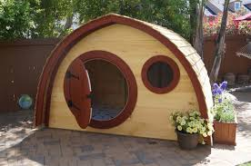 kids outdoor wooden hobbit hole playhouse kit