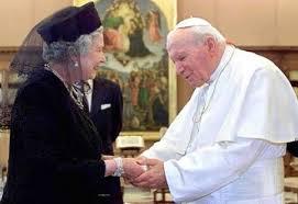 John Paul II and Queen Elizabeth