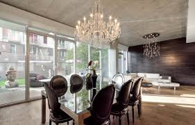 handsome image of dining room decoration using white leather