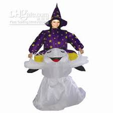 inflatable halloween devil costume witch suit ghost clothing