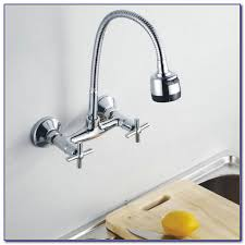 wall faucet kitchen wall mount kitchen faucet with pull sprayer
