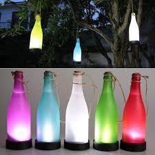 Patio Hanging Lights by Amazon Com 5pcs Plastic Led Solar Bottle Lights Wine Bottle